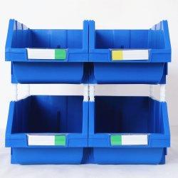 pièces de rechange d'entrepôt de grande taille industrielle des bacs de rangement en plastique empilable