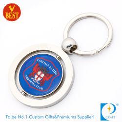 Maker Aucun minimum de cadeau promotionnel personnalisé Logo double face de la chaîne de clé en métal en alliage de zinc métal chariot porte-monnaie Souvenir trousseau avec décapsuleur
