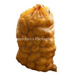 Nettoineinander greifen-Beutel Fabrik-Zubehörhaltbarer Plastikdes drawstring-pp. für Gemüse-Kartoffel-Zwiebelen-Apple-Frucht