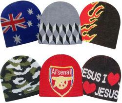 La Chine fournisseur personnalisé de gros de l'acrylique Imprimer étiquette de broderie logo Jacquard hiver Beanie Hat