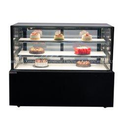 新製品のカップケーキのパンのペストリーの冷却のショーケースの大理石によって基づくケーキの飾り戸棚