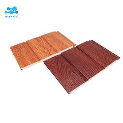 La decoración de madera tallada de PVC blanco exterior del panel sándwich de 3D Los paneles de pared impermeable Precio