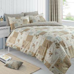 Edredón nórdico con funda de almohada conjunto de ropa de cama Reversible Floral mal Chic Patchwork