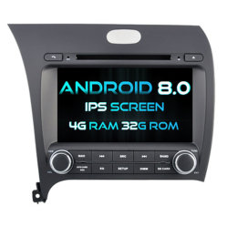 Android 8.0 Witson huit coeurs de DVD pour voiture KIA K3/Forte/Cerato 2013 1080P 4G ROM écran tactile 32 Go ROM écran IPS