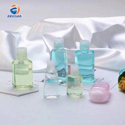 O tempo de envio rápido 60ml de mão de plástico vazias Sanitizer Garrafa com tampa articulada