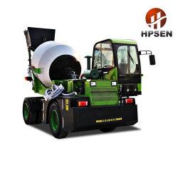 Hpsen 4m3 구체 믹서 트럭을 적재해 유압 수도 펌프 각자