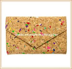 Rainbow красочные Корк Wallet сумка кошелек для женщин