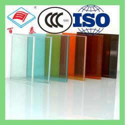 Цвет Цвет Красный плавающего режима 4мм Ламинированное стекло