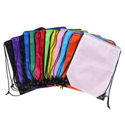 Promotion recyclé à la mode Custom 210d le tissu de polyester coulisse de l'École de sac à dos Sac de sport
