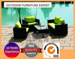 Garten-Möbel-Sofa-gesetztes im Freienmöbel-Rattan-Aufenthaltsraum-Sofa