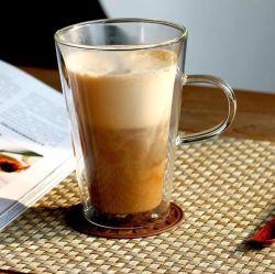 고내열성 보론방열 크리에이티브 더블 글라스 고온 저항성 수동 불기 벨트 맞춤 로고 커피 컵