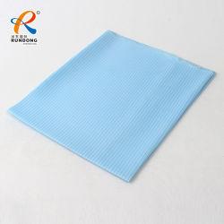 Commerce de gros plaine de haute qualité jersey fin tricot de polyester teint tissu à armure sergé de coton