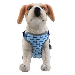 El Chaleco arnés perro cachorro de la formación de los gatos mascota malla suave arnés para perros grandes + tela poliéster de Red LED de Chest Strap mascotas con hueso Imprimir