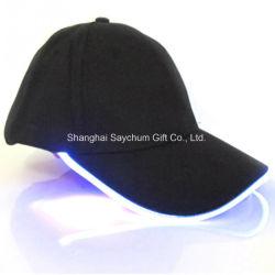 Logo personnalisé conduit Cap Lumière LED clignotant Casquette de baseball / Hip-Hop Chapeau de fête pour le jouet de cadeau de Noël