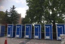 Широко используются портативные мобильные общественного туалета для продажи в Индии