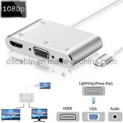 La foudre vers HDMI Adaptateur AV numérique VGA avec audio 3,5 mm
