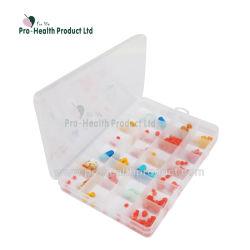 분리가능한 24의 격실 약 PP 환약 상자