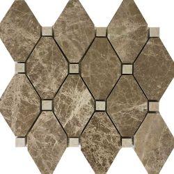 Натуральный камень этаже плитка бежевого цвета мраморным лампа Эмперадор мозаики