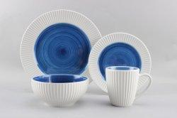 La mano en relieve de porcelana Pintura cerámica Houseware cena con certificación LFGB