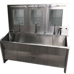 Haute qualité en acier inoxydable complet trois puits de lavage
