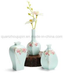 OEM porcelana vidrada criativo decorativa vaso de flores de cerâmica