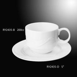 Bonne qualité de tasse de café avec soucoupe en porcelaine d'utiliser un design unique