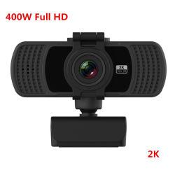 2020 Mejor Venta Webcam Full HD 1080P 400W 2K Cámara Web USB para ordenador portátil USB Webcam Cámara con micrófono incorporado