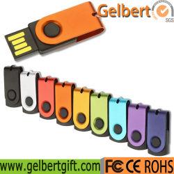 USB-Stick aus schwenkbarem Metall mit Geschenkartikeln USB-Flash-Treiber