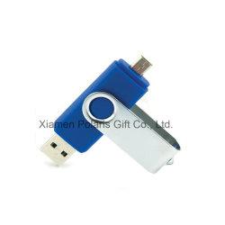 1台の携帯電話のプラスチックOTG USBのフラッシュディスクに付き携帯用64GB 2台
