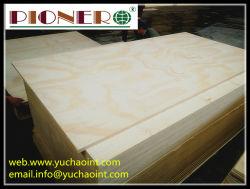 Radiata Pine Plywood 5,5mm voor Meubels E1 Glue