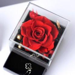 Decoración de Navidad Rosa preservada regalo de flores
