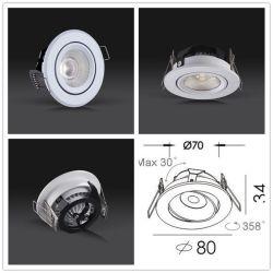 LED basse puissance réglable COB Spotlight Downlight encastré 6W