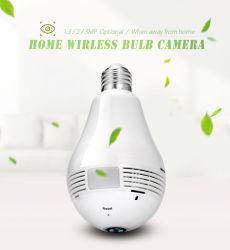 videocamera di sicurezza senza fili del CCTV del IP della rete di WiFi Fisheye della lampadina 1.3/2/3/5MP