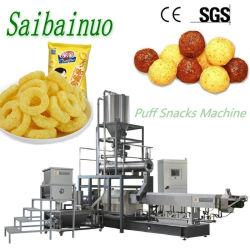 新しい技術のチーズの球のトウモロコシのパフの軽食の破片機械を作る 植物の枕コアの中で軽食を製造ライン