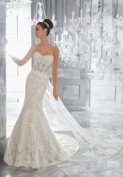 Тонкий устраивающих свадьбу Gowns чисто кружева съемные поезд свадебные платья