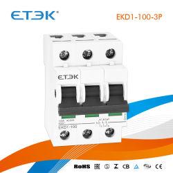 Ekd1-125 3p 50un interruptor de aislamiento con aprobación CE