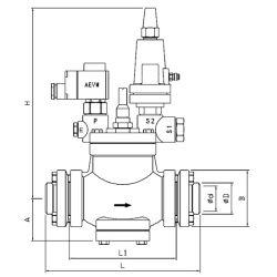アンモナル、フレオンおよび二酸化炭素の冷凍圧力およびガソリン式制御弁