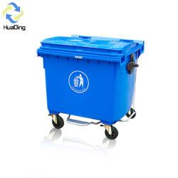 scomparto di immondizia esterno dello spreco della plastica di grande formato 660L/800L/1100L