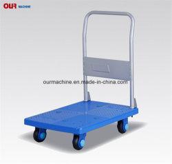 Pliage en plastique Uni-Silent 150-400kg Entrepôt de la plate-forme version Brouette avec poignée enfichables