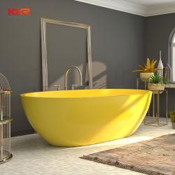 Bañera de hidromasaje de piedra artificial de resina de superficie sólida bañeras independientes