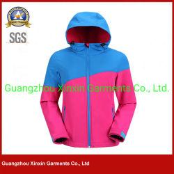 Ropa de abrigo de los Hombres chaqueta con capucha 100% poliéster Sudadera con capucha exterior de Forro Polar Fleece Windproof resistente al agua (J531)