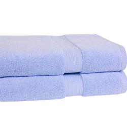 Venda por grosso de algodão de cor sólida toalhas de banho toalhas de praia