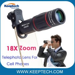 18X Zoom cámara del teléfono móvil teléfono lente teleobjetivo