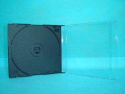 Caja de CD Jewel CD Cover CD Box de 5,2 mm Silm cuadrado con bandeja negra precio más barato de buena calidad