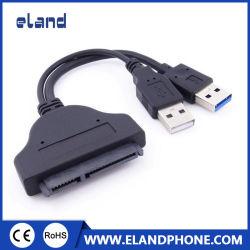 كبل محول من نوع USB 3.0 إلى SATA ذي 22 سنًا من المصنع لـ 2.5 محرك القرص الثابت بحجم بوصة مع كبل طاقة USB 2.0
