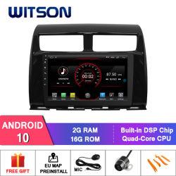 Witson Toyota Myvilcon를 위한 9 인치 스크린 인조 인간 10 차 DVD 플레이어 항법