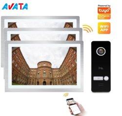 7 pouces écran LCD couleur Villa vidéo porte déverrouillage Enregistrer un appel de surveillance poste intérieur Audio vidéo interphone 12 V.