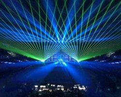옥외 22W 30W 레이저 광 단계 애니메니션 광속 빛 40kpps