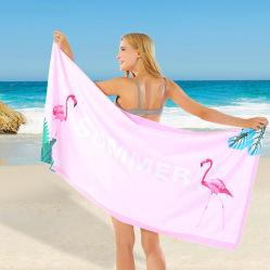 Яркие печатные Фламинго дома на улице пляжные полотенца в больших ткань из микроволокна для быстрой сушки волос поездки есть полотенце производитель, легкий компактный подарок полотенце