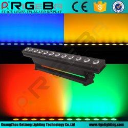 段階のディスコDJ DMX制御12LEDs 10W RGBW 4in1屋内プロジェクターLED棒壁の洗濯機ライト